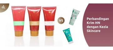 Perbandingan Krim HN dengan Kezia Skincare
